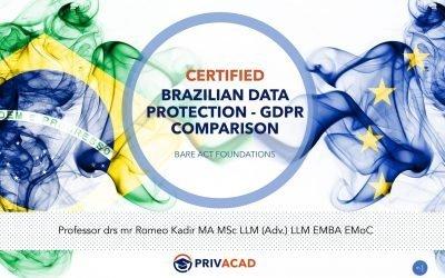 Certified Brazilian Data Protection – GDPR Comparison