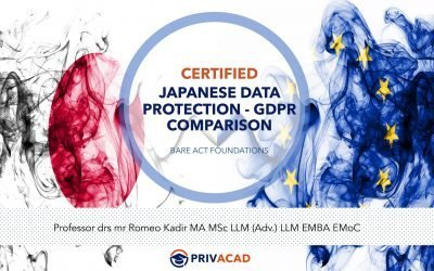 Certified Japanese Data Protection – GDPR Comparison