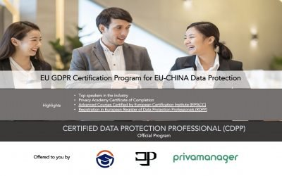 China Registered Data Protection Professional (RDPP) EU-CHINA Data Protection