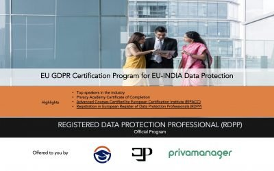 India Registered Data Protection Professional (RDPP) EU-INDIA Data Protection