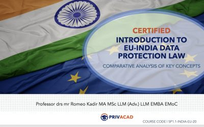 Introduction to EU-India data protection law – comparison of key concepts